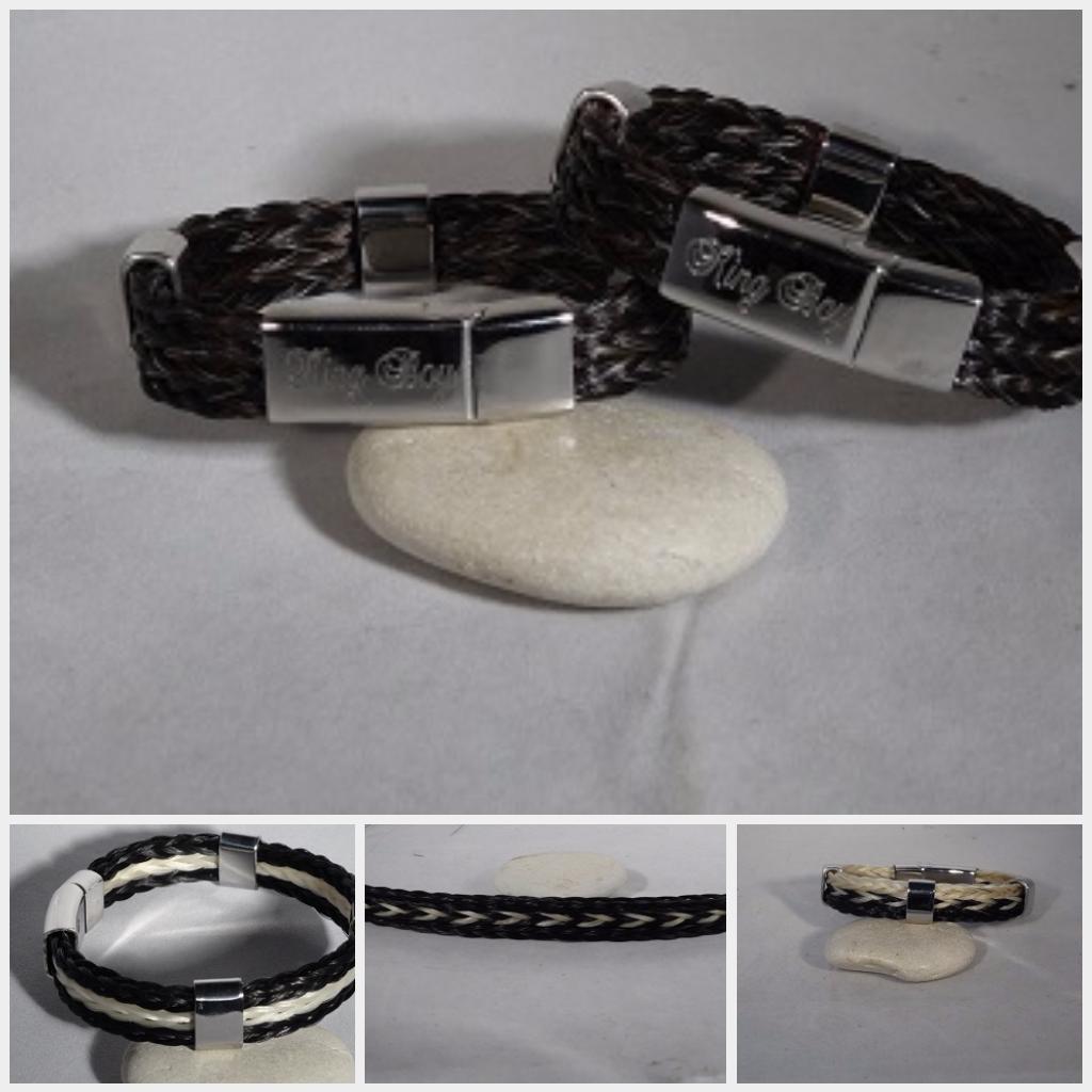 Nieuwste armband met 3 vierkant gevlochten vlechtjes